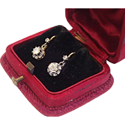 Diamond Earrings , 18K , French C.1910