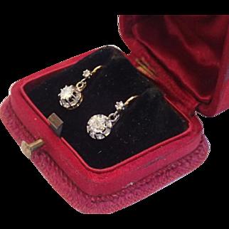Diamond Earrings , 18K , French C.1910