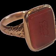 Georgian, 14K & Carnelian Signet Seal Ring
