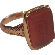 Georgian, 14K & Carnelian Signet Seal Ring