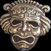 Sale Pending For JT ......Signed Margot De Taxco Sterling Mask Pin