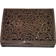 Sale Pending For JS ......Art Deco French Silver Box With Marcasites
