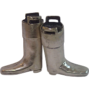Silverplate Knitting Needle Boots , English Circa 1907