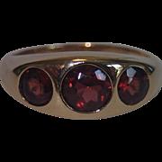 Victorian Garnet & 10K Ring