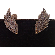 Vintage Screwback Earrings , 800 Silver & Marcasites