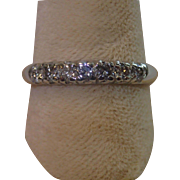 Vintage Platinum & Diamond Band Ring