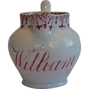 Sale Pending For S J C ...... Transferware Pitcher For William , Circa 1830