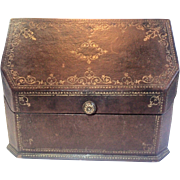 Antique Paris Letter Box, Embossed & Gilded