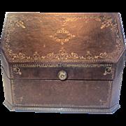 Antique Paris Letter Box, Embossed & Gilded
