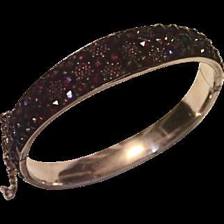 Antique Czech Garnet Bracelet