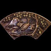 Antique Shakudo Pin, 19th Century