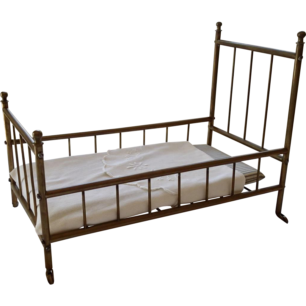 Victorian Brass Doll Bed