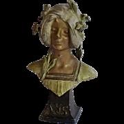 Art Nouveau Spelter Bust