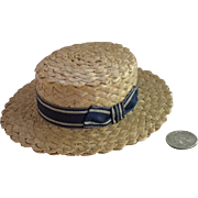 Salesman Sample Straw Boater ...... Perfect Doll Size