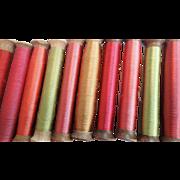 Antique Silk Thread Spools From Paris