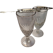 Antique French Absinthe Glasses & Spoons