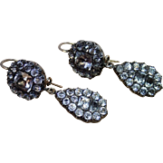Georgian Black-Dot Paste Earrings In Gold & Silver