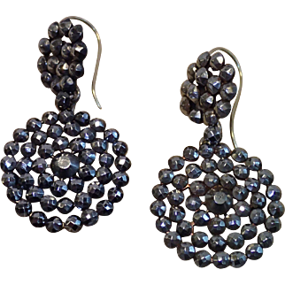 Victorian Cut-Steel Earrings With 15 CT Wires