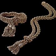 Exquisite Victorian Revival 14K Bracelet & Necklace , 140 Grams