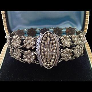 French Cut Steel Bracelet , C. 1800