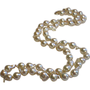 Cultured Baroque Pearls, Matinee Length With 14K Clasp