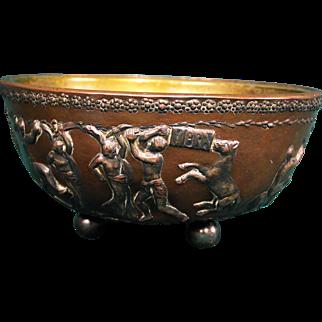 Rare E. F. Caldwell Classical Revival Ornamented Bowl