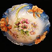 Iris Pattern Prussia Bowl c. 1900