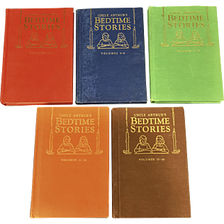 Uncle Arthur's Bedtime Stories 5 Books, Vols. 1-20 1940's