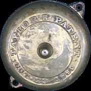 Antique Taylor's Brass Door Bell circa 1860
