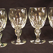 Tiffin Falstaff Water Goblet, circa 1950, Set of 4