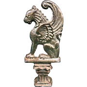 Vintage Brass Plated Griffin Hood Ornament