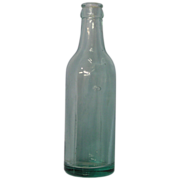 A. W. Kenison Beer Bottle Aqua Green Circa 1897