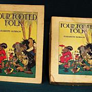 Four Footed Folk Childrens Book w/Box