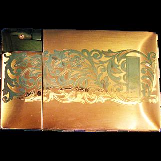 Vintage Elgin Lite-O-Matic Cigarette Case / Lighter