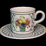 Villeroy & Boch Basket Pattern Cup & Saucer
