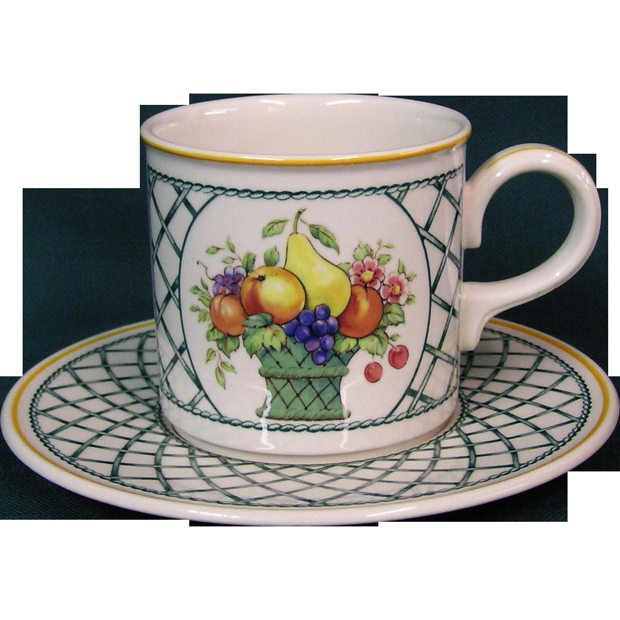Villeroy boch basket pattern cup saucer from for Villeroy boch outlet