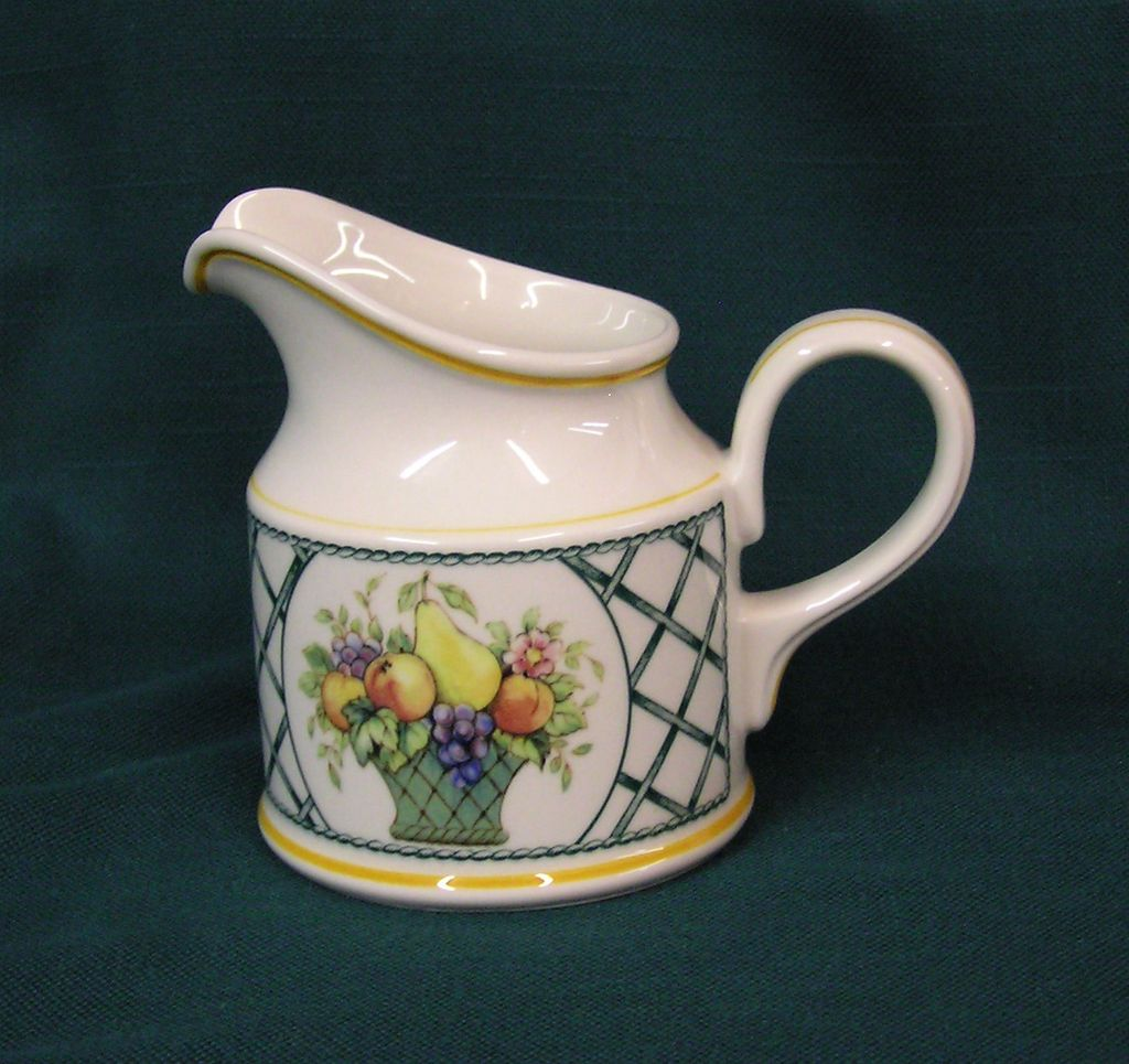 Villeroy boch basket pattern creamer from villageantiquesllc on ruby lane - Villeroy and bosh ...