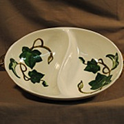 Metlox-Poppytrail Ivy Oval  Divided Vegetable Dish