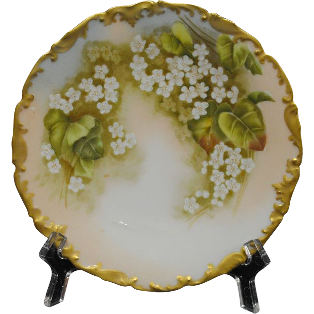 Antique Limoges Tressemann and Vogt Porcelain Dessert Plates (6)