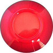 Rare Carmen Red Cambridge Elegant Glass Luncheon Plates Lunch 8 Inch Set Of 10