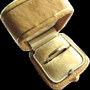 14K White Gold Art Deco Wedding Band Ring JR Wood & Sons Art Carved