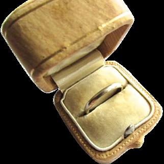 14K White Gold Art Deco Wedding Band Ring JR Wood & Sons