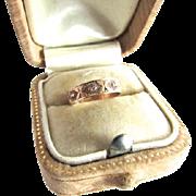 Victorian 10K Rose Gold Cigar Band Baby Midi Ring