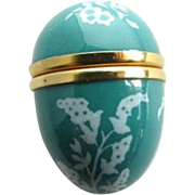 English Bilston & Battersea Halcyon Days Enamel Egg Trinket Pill Box Thimble Case Keepsake Treasure