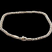 "Sterling Anklet, Silver Bracelet, 9 1/4"" Long, Woven Chain, 2mm, 925 Anklet, Boho, Festival Jewelry, Silver Anklet"
