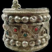 Gypsy Bracelet, Vintage Bracelet, Turkomen Tribal, Hinged, Jeweled, Wide Bracelet, Old Ethnic, Kuchi Boho, Bohemian, Statement, Nomad #1