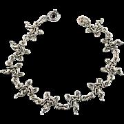 Fairy Bracelet, Sterling Silver, Vintage Bracelet, Linked Links, Fairies, Fantasy Jewelry, New Age, Romantic