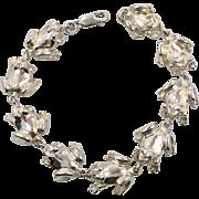 Frog Bracelet, Sterling Silver, Vintage Bracelet, Animal Jewelry, Unique Unusual, Links, Linked, Vintage Jewelry, Three Dimensional