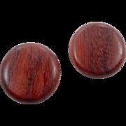 Wood Earrings, Vintage Earrings, Round Buttons, Pierced Earrings, 60s 70s, Post Earrings, Retro, Oversized, Big Statement, Wooden Wood Earrings, Vintage Earrings, Round Buttons, Pierced Earrings, 60s 70s, Post Earrings, Retro, Oversized, Big Statemen