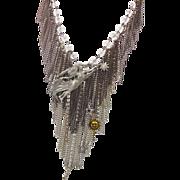 Goddess Necklace - Star Fairy - Chains & Rhinestones - Vintage Repurposed - InVintageHeaven